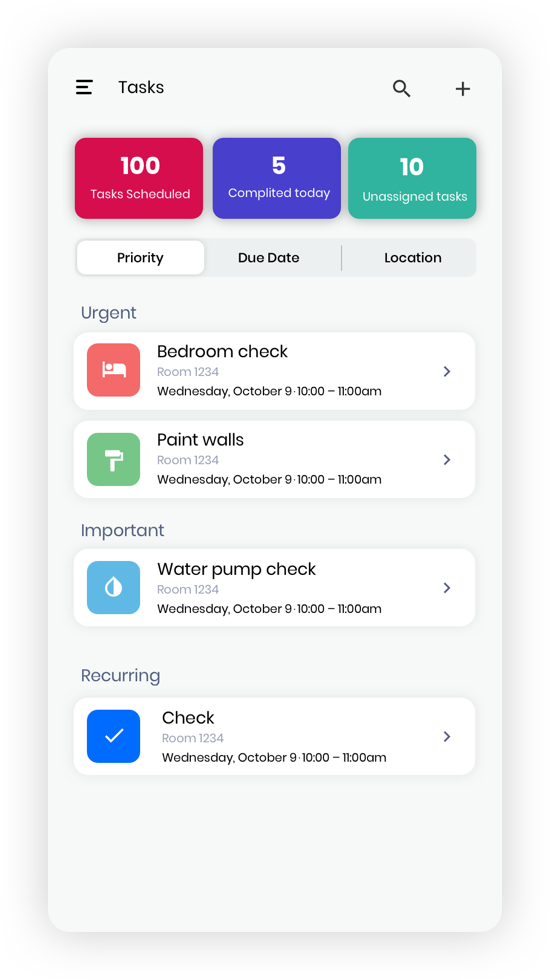 Mobile Apps Tasks Screenshot